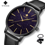 New Fashion Sports Mens Watches Top Brand Luxury Waterproof leather Simple Ultra-Thin Watch Men Quartz Clock Relogio Masculino