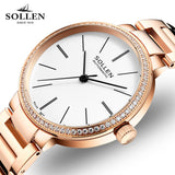 Brand Rose Gold Women Watches Ladies Clock Girl Casual automatic mechanical Watch Women Steel Bracelet WristWatch Montre Femme