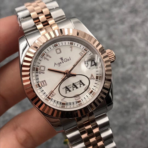 Luxury Brand New Women Datejust Stainless Steel Automatic Mechanical Sapphire Silver Rose Gold Coffee White Number Watch 31mm