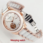 33mm little Luxury Dress Sapphire Glass Lady Women GOLDEN Automatic Mechanical movement Watch Rose Gold Case W2898