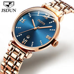 JSDUN Blue Watch Women Watches Ladies Rose gold Steel Women's Bracelet Watches Female Clock Relogio Feminino Montre Femme 2019