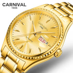 Luxury Gold Automatic Mechanical Watch Business Men Brand Steel Army Military Watches Auto Date Clock Relogio Masculino Male