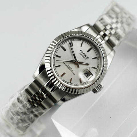 26mm oyster Bezel Silver dial 21 Jewels Miyota Automatic Lady Watch Date&day Classique Relogio Feminino top fashion