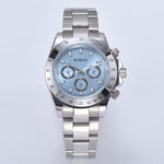automatic mens watch daytona fashion sapphire crystal 39mm stainless steel bracelet silver case watch 02