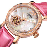Japan MIYOTA Automatic Watches BINGER Brand Women Mechanical Watch Female Form Queen Series Rose Gold Waterproof Diamond 2017