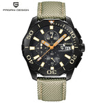 PAGANI DESIGN Stainless Steel Men Watches Luxury Brand Chronograph Sport Business Waterproof Quartz Wrist Watch Men Clock Male