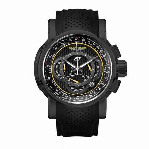 Reef Tiger Aurora Serier RGA3063 Men Multifunction Dial Sport Waterproof Chronograph Fashion Quartz Wrist Watch