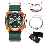 WWOOR Luxury Women Watches Waterproof Business green Nylon Ladies Quartz Relogio Feminino Milan Mesh Band Lady Watch Chronograph