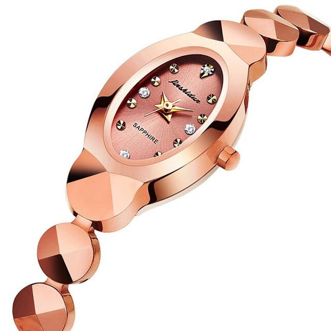 Fashion Crystal Lady Watches JSDUN 2019 Luxury Brand Women Dress Watch Waterproof Rose Gold Quartz Wristwatches Relogio Feminino
