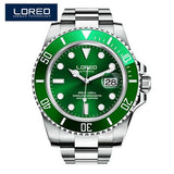 LOREO Automatic Diver Watch 316L Full Steel Waterproof 200m Seagull Mechanical Watches Sapphire Glass mekanik kol saati relogio