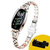 MNWT H8 Fashion Smart Wristwatches Women Digital Watches Ladies 2020 Waterproof Heart Rate Monitoring Bluetooth For Android IOS
