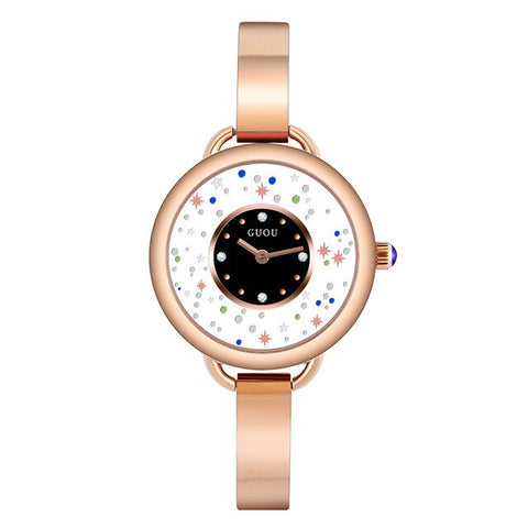 Starry Sky Dial Ladies Crystal Bracelet Watch Elegant Women Dress Watches Female Waterproof Quartz Watch Clock Women reloj mujer