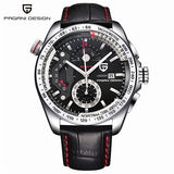 PAGANI DESIGN Waterproof Outdoor Calendar Chronograph Sports Leather & Stainless Steel Quartz Men's Watches Relogio Masculino