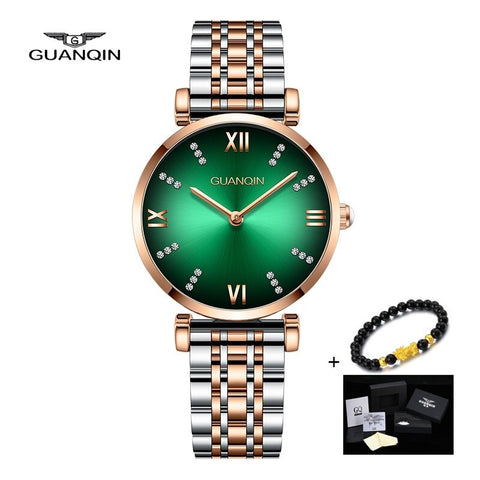 New GUANQIN Women Watch Waterproof Ladies Dress Watch Girl Clock Fashion Stainless Steel Quartz Watch Relogio Feminino 2019