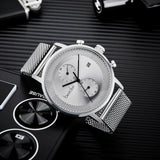 Bestdon Sports Watch Man Geekthink Waterproof Black Simple Stainless Steel Men Quartz Wristwatch Clock Relogio Masculino Gifts