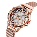 2020 Luxury Brand lady Crystal Watch Women Dress Watch Fashion Rose Gold Quartz Watches Female Stainless Steel Wristwatches P234
