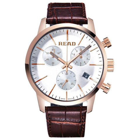 New Men Sports Watch Leather Strap Fashion Simple Multi-function Waterproof Quartz Men's Watch Relogio Masculino Erkek Kol Saati