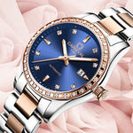 CARNIVAL Women Watches Ladies Waterproof Luminous Automatic Mechanical Wrist Watch Diamond Clock Rose Gold Saat Relogio Feminino