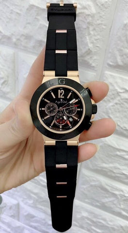 Luxury Brand New Men Stainless Steel Rose Gold Rubber Silver Black Japanese Quartz Chronograph Sapphire Classic Sports Watch AAA