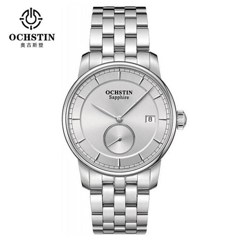 Famous Brand Men Sports Watches Full Steel Watch Male Fashion OCHSTIN Quartz Clock Military Wristwatch Relogio Masculino