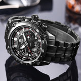 CAINO New Fashion Sports Watches Men Stainless Steel Business Casual 100M Waterproof Quartz Wrist Watch Clock Relogio Masculino