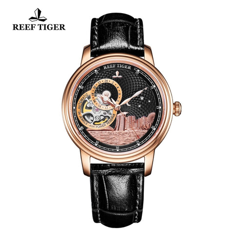 Reef Tiger/RT Luxury Brand Ladies Designer Watch Men Classic Automatic Watch Sapphire Crystal Rose Gold Wrist Watches RGA1739