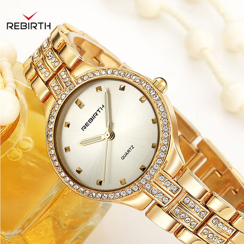 Women Watches Rose Gold Silver Stainless Steel Bracelet Watches for Women 2019 Fashion Women's Quartz Watch With Rhinestones