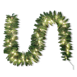 Artificial Holiday Garland with 50 Lights (9 ft)