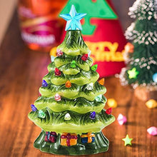 "Load image into Gallery viewer, 7"" Mini Prelit Tabletop Christmas Tree"