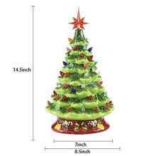 "Load image into Gallery viewer, 15"" Ceramic Christmas Tree with Decorations (Red)"