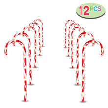 "Load image into Gallery viewer, 17"" Christmas Candy Cane Pathway Markers"