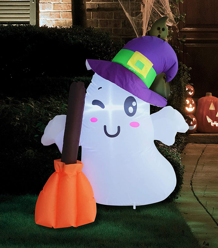 Wizard Cute Ghost Inflatable with Build-in LEDs