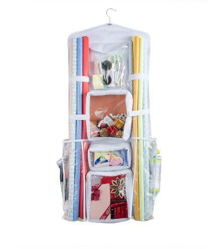 "Double Sided Hanging Wrapping Paper Storage, Wrapping Paper Organizer (18""W x 40"" L)"