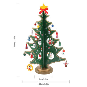 "14"" Tabletop Wooden Christmas Tree"