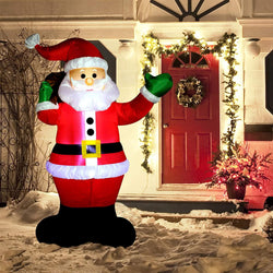 Large Waving Santa Claus Inflatable (6 ft)