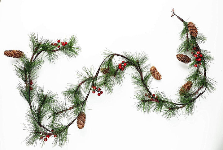 Holiday Garland with Decorations (6 ft)