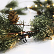 Load image into Gallery viewer, Pre-Lit Smokey Pine Christmas Garland