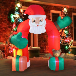 Giant Santa Claus with Gift Boxes Archway Inflatable (11 ft)