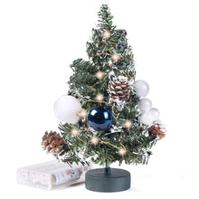Load image into Gallery viewer, Prelit Tabletop  Christmas Tree with Pine Cones and Ornaments