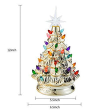 "Load image into Gallery viewer, 12"" Gold Ceramic Christmas Tree"