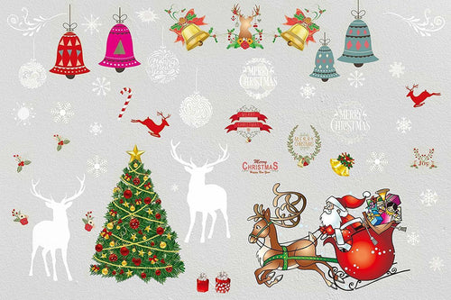 Colorful Holiday Wall Decals