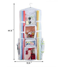 "Load image into Gallery viewer, Double Sided Hanging Wrapping Paper Storage, Wrapping Paper Organizer (18""W x 40"" L)"