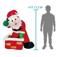 Load image into Gallery viewer, Tall Rooftop Santa (4 ft)