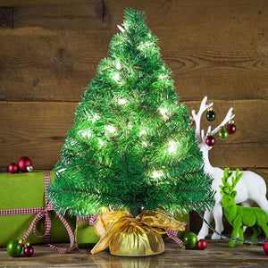 "22"" Prelit Table-top Christmas tree (Gold)"