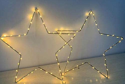 3 Pack Star Fairy Lights Warm White