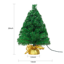 "Load image into Gallery viewer, 22"" Prelit Table-top Christmas tree (Gold)"