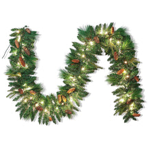 Load image into Gallery viewer, 9 ft Carolina Pine Artificial Garland with 50 Lights & Decorations
