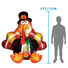 Load image into Gallery viewer, Large Thanksgiving Gobbles the Turkey (6 ft)