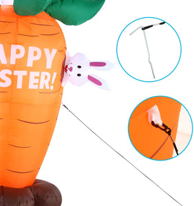 Large Easter Bunnies with Carrot (6 ft)