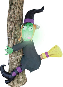Tall Crashing Witch Into Tree Inflatable (4 ft)